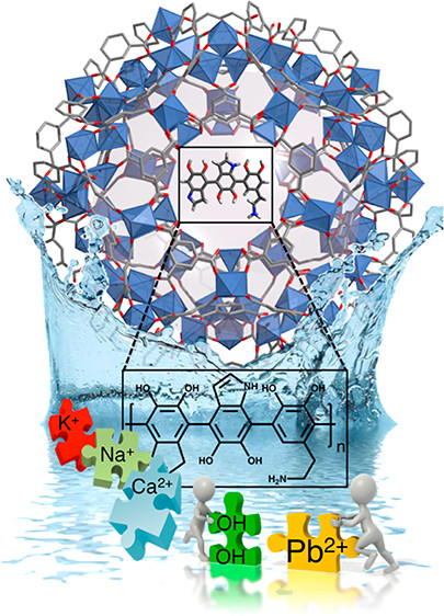 Rapid, Selective Heavy Metal Removal from Water by Metal-Organic Framework/Polydopamine Composite