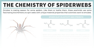 The chemistry of spider webs.