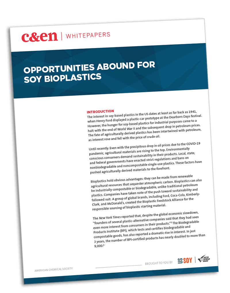 Opportunities abound for soy bioplastics