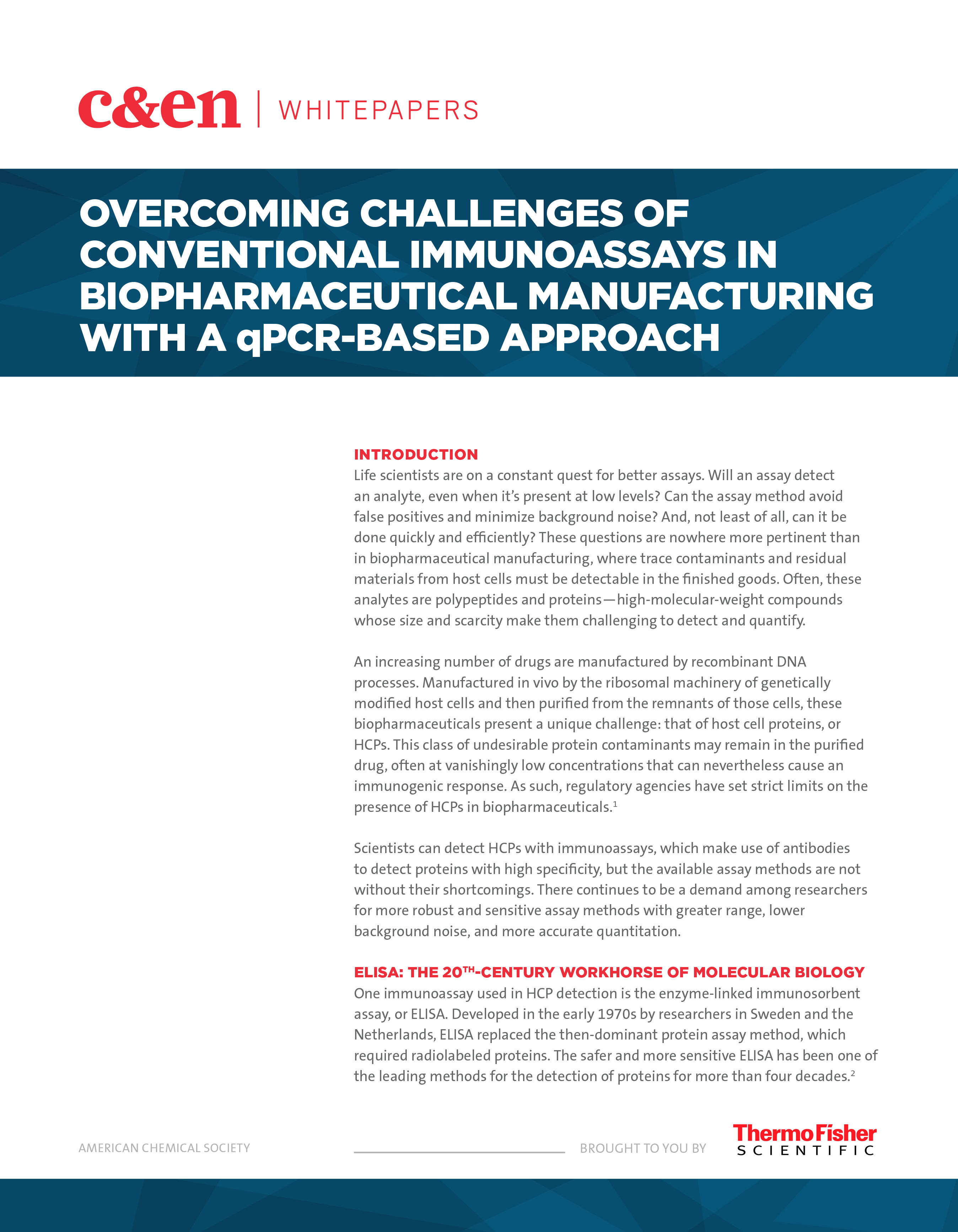 Overcoming Challenges of Conventional Immunoassays in Biopharmaceutical Manufacturing with a qPCR-Based Approach