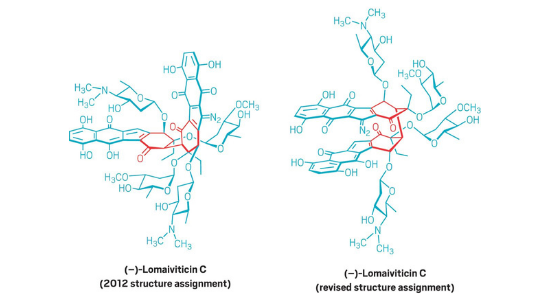Lomaiviticins' structures get a revision.