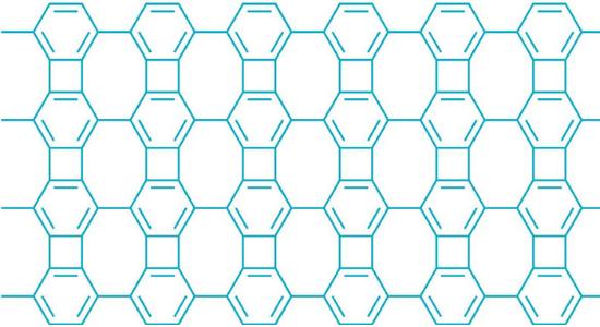 Biphenylene network zipped together.